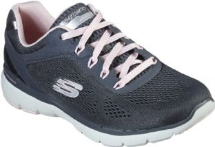 Skechers Womens 13059 CCPK Charcoal Pink Moving Fast Flex Appeal 3.0 Trainers